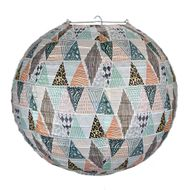 "14"" Bohemian In the Rough Patterned Premium Paper Lantern"