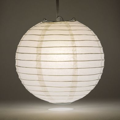 12 White Round Paper Lantern Even Ribbing Hanging Light Not Included On Now Chinese Lanterns At Bulk Whole Best Prices