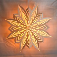 "30"" Large Winter Rune Star Lantern Snowflake Paper Hanging Decoration"