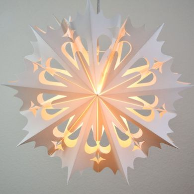 "32"" Large Winter Angel Snowflake Paper Star Lantern, Hanging Decoration"