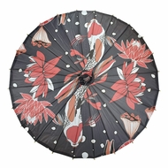 "32"" Midnight Koi Fish Pond Premium Paper Parasol Umbrella"