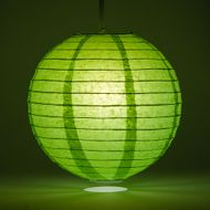 Grass Green Round Even Ribbing Paper Lanterns