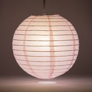 Pink Round Even Ribbing Paper Lanterns