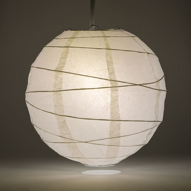 30 White Round Paper Lantern Irregular Ribbed Hanging Light Not Included On Now Chinese Lanterns At Bulk Whole Best Prices