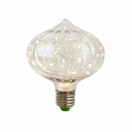 LED Fairy C100 Ribbed Edison Shatterproof Light Bulb, E26, 3W(25W Equivalent)