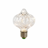 LED Fairy C80 Ribbed Edison Shatterproof Light Bulb, E26, 3W(25W Equivalent)