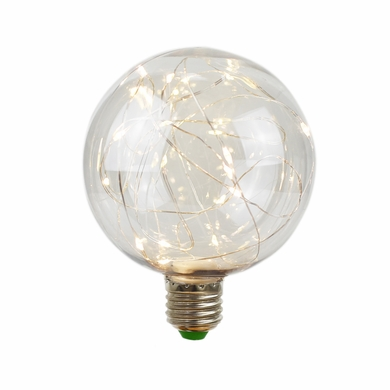 LED Fairy G100 Globe Edison Shatterproof Light Bulb, E26, 3W(25W Equivalent)