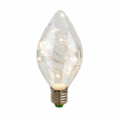 LED Fairy TD70 Flame Edison Shatterproof Light Bulb, E26, 3W(25W Equivalent)