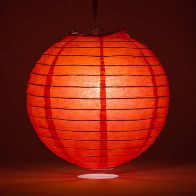 6 Red Round Paper Lantern Even Ribbing Hanging Light Not Included On Now Chinese Lanterns At Bulk Whole Best Prices