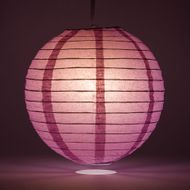 Violet / Orchid Round Even Ribbing Paper Lanterns