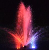 Fountain Tech Universal Stainless Steel 3x LED Color Changing RGB or Solid Blue/White Light Kit