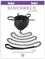 Sincerely Lace Posture Collar And Leash