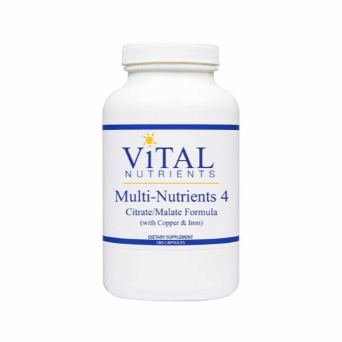 Multi-Nutrients 4 Citrate/Malate Formula with Copper & Iron (180C) by Vital Nutrients