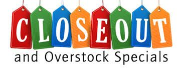 Closeout & Overstock Specials