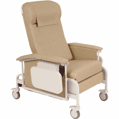 Winco Drop Arm Care Cliner with Nylon Casters #6550