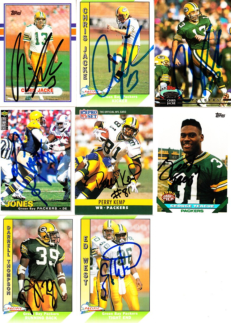 on sale ffcfd 6979a 14 Green Bay Packers autographed cards (Johnny Holland Chris ...