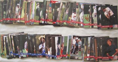 Partial set of 175 autographed 1992 Pro Set PGA Tour golf cards (Gay Brewer Fred Couples Ben Crenshaw John Daly Nick Faldo Gary Player Vijay Singh)
