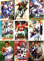 18 Denver Broncos autographed 1990s cards (Tyrone Braxton Michael Brooks Simon Fletcher Keith Traylor)