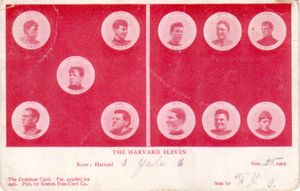 1905 Harvard college football team postcard