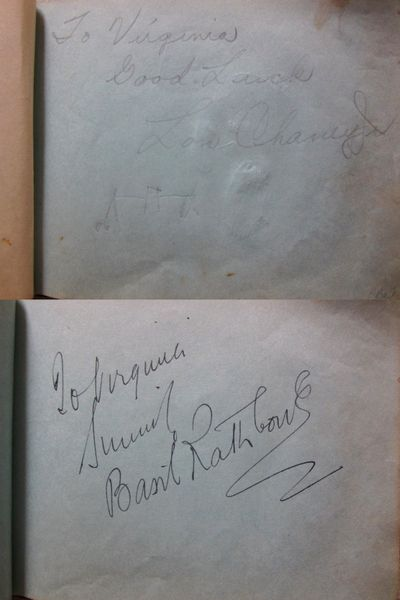 1937 Hollywood autograph album book autographed by 29 actors actresses Lon Chaney Jr. Walter Connolly Basil Rathbone Robert Taylor JSA
