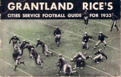 1933 Grantland Rice's Cities Service Football Guide