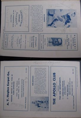 1941 Philadelphia Athletics and Pittsburgh Pirates team autographed program Honus Wagner Al Simmons (JSA)