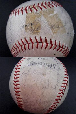 1969 New York Mets World Series Champions Team autographed baseball Gil Hodges Tug McGraw Nolan Ryan Tom Seaver (JSA)