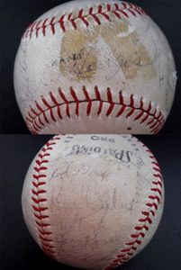 1969 New York Mets World Series Champions autographed baseball Gil Hodges Tommie Agee Tug McGraw Nolan Ryan Tom Seaver (JSA)