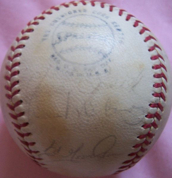 1972 San Francisco Giants team autographed NL baseball (Dave Kingman Willie McCovey)