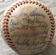 1973 New York Mets National League Champions Team autographed NL baseball (Yogi Berra Willie Mays Tom Seaver)