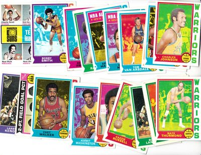 1974-75 Topps basketball 23 card starter set or lot (Elvin Hayes Earl Monroe Nate Thurmond Wes Unseld)