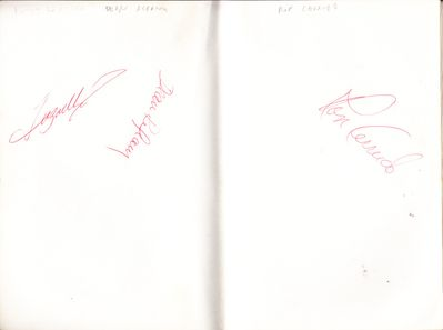 1976 PGA Tour Westchester Classic autographed book (Charles Coody Hale Irwin Tom Kite Dave Stockton Fuzzy Zoeller)