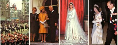 1977 Queen Elizabeth postcard size prints (lot of seven)