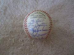 1978 New York Yankees World Series Champions team autographed baseball (Yogi Berra Goose Gossage Ron Guidry Catfish Hunter Reggie Jackson)