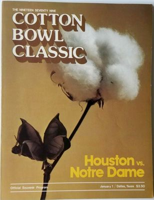 1979 Cotton Bowl college football program Joe Montana Notre Dame Chicken Soup Game (excellent condition)