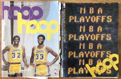 1980 Los Angeles Lakers lot of 2 game programs (Kareem Abdul-Jabbar and Magic Johnson rookie season)