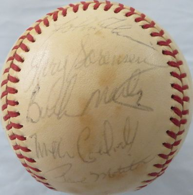 1980 Milwaukee Brewers team autographed baseball (Paul Molitor Jim Gantner Gorman Thomas)