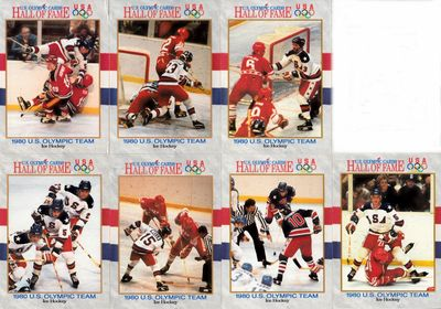 1980 Miracle on Ice USA Hockey Team set of 7 different 1991 Impel U.S. Olympic Hall of Fame cards