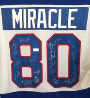 1980 Miracle on Ice USA Olympic Hockey Team autographed jersey with all 20 players (Grandstand)