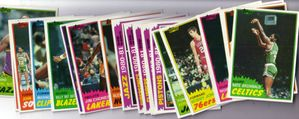1981-82 Topps basketball card starter set or lot (Alex English Lakers Team Leaders Rick Mahorn RC)