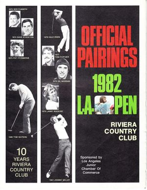 1982 Los Angeles Open golf pairings guide (Johnny Miller Tom Watson)