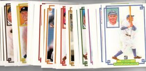1984 Donruss Champions complete 60 jumbo card set (Hank Aaron Mickey Mantle Babe Ruth)