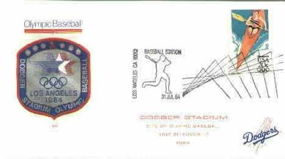1984 Olympic Baseball cachet (Will Clark Barry Larkin Mark McGwire)
