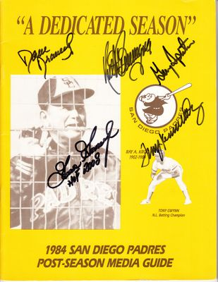 1984 San Diego Padres autographed Postseason Media Guide (Goose Gossage Dave Dravecky Terry Kennedy Garry Templeton)
