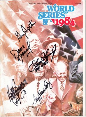 1984 San Diego Padres autographed World Series program (Goose Gossage Dave Dravecky Terry Kennedy Garry Templeton)