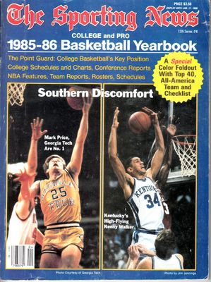1985-86 Sporting News Basketball Yearbook (Mark Price Kenny Walker cover)