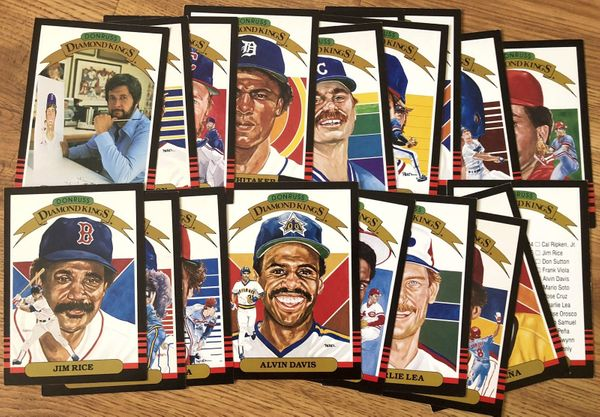 1985 Donruss Super Diamond Kings partial set of 5x7 jumbo cards Bert Blyleven Jim Rice Don Sutton Lou Whitaker