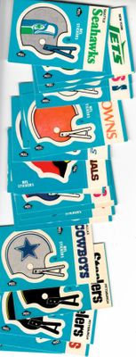 1985 Fleer NFL helmet logo lot of 19 stickers