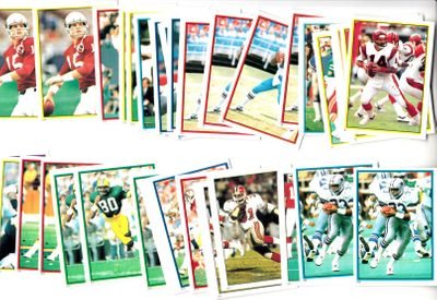 1985 Topps football lot of 45 stickers (Tony Dorsett Steve Largent Warren Moon John Riggins Lawrence Taylor)