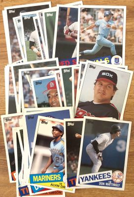 1985 Topps Super 5x7 baseball card partial set (George Brett Don Mattingly Nolan Ryan Mike Schmidt)